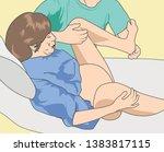 pregnancy labor position  ... | Shutterstock .eps vector #1383817115