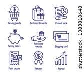 customer rewards icon set w...   Shutterstock .eps vector #1383818648
