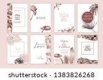 set of elegant chic brochure  ... | Shutterstock .eps vector #1383826268