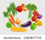 realistic vegetables top view... | Shutterstock .eps vector #1383827735