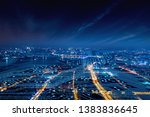 modern city with wireless... | Shutterstock . vector #1383836645