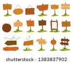 wooden signboard set.... | Shutterstock .eps vector #1383837902