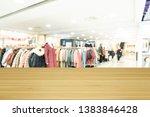 empty wooden table space... | Shutterstock . vector #1383846428