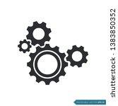 gear icon vector template  flat ... | Shutterstock .eps vector #1383850352