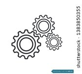 gear icon vector template  flat ... | Shutterstock .eps vector #1383850355