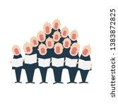 Male Chorus In Action. Clipart...