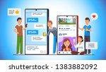 modern communication concept... | Shutterstock .eps vector #1383882092