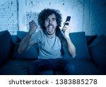lifestyle portrait of tv show... | Shutterstock . vector #1383885278