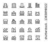 building icons set ilustration... | Shutterstock .eps vector #1383898022