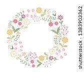 flower frame. summer flowers of ... | Shutterstock .eps vector #1383903362