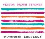 mottled ink brush strokes... | Shutterstock .eps vector #1383913025