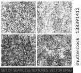 set of vector seamless textures.... | Shutterstock .eps vector #138391412