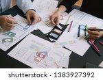 close up ui ux designer meeting ...