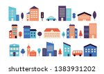 colorful house exterior vector... | Shutterstock .eps vector #1383931202