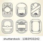 vintage set retro cards.... | Shutterstock .eps vector #1383933242