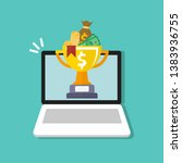 golden cup championship prize... | Shutterstock .eps vector #1383936755