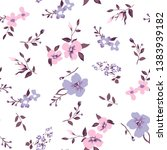 Floral Pattern On White...