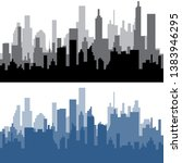city   black silhouette  3d... | Shutterstock .eps vector #1383946295