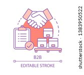 b2b concept icon. commercial...   Shutterstock .eps vector #1383950522
