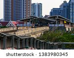 bts mo chit sky train station... | Shutterstock . vector #1383980345