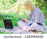 managing business outdoors.... | Shutterstock . vector #1383985838