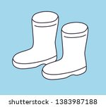 wellies gum boots icon vector | Shutterstock .eps vector #1383987188