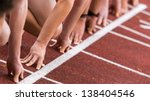 sprint start in track and field | Shutterstock . vector #138404546