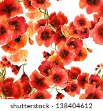 Poppies Seamless Pattern