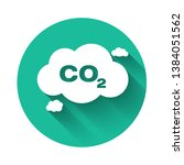 white co2 emissions in cloud... | Shutterstock .eps vector #1384051562