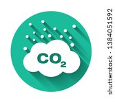 white co2 emissions in cloud... | Shutterstock .eps vector #1384051592