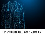 close up of male doctor with...   Shutterstock .eps vector #1384058858