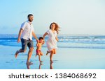 happy family   young father ... | Shutterstock . vector #1384068692