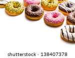 Various Donuts On White...