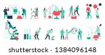 colorful icons set with... | Shutterstock .eps vector #1384096148