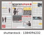 newspaper template design with... | Shutterstock .eps vector #1384096232