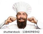 portrait of a happy chef cook.... | Shutterstock . vector #1384098542