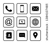 contact us icons. web icon set. ... | Shutterstock .eps vector #1384107485