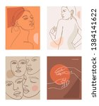 modern minimalist line female... | Shutterstock .eps vector #1384141622
