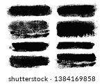 brush strokes. vector... | Shutterstock .eps vector #1384169858