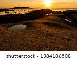 stony coastline  quiet... | Shutterstock . vector #1384186508