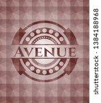 avenue red polygonal badge....   Shutterstock .eps vector #1384188968