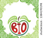sign bio. apple. beautiful... | Shutterstock .eps vector #1384190198