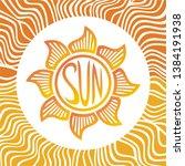 sun. beautiful nature... | Shutterstock .eps vector #1384191938