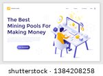 landing page template with...   Shutterstock .eps vector #1384208258