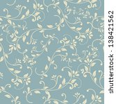 seamless floral pattern on blue ...