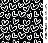 seamless pattern with hearts on ... | Shutterstock .eps vector #1384218392