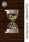 true transparent hourglass with ... | Shutterstock .eps vector #1384224722
