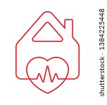 heart symbol  rhythm and home... | Shutterstock .eps vector #1384225448