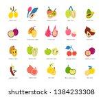 fruits  berries cartoon... | Shutterstock .eps vector #1384233308