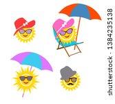 illustration set sun. graphic... | Shutterstock . vector #1384235138